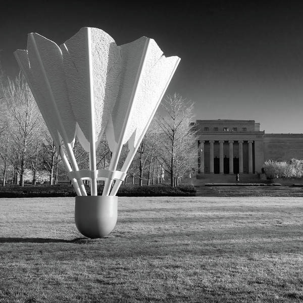 Nelson Atkins Art Museum In Infrared - Kansas City - Square Poster