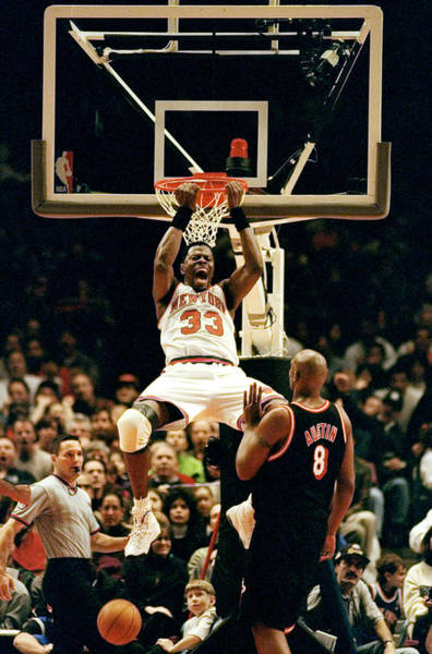 New York Knicks Patrick Ewing Does A Poster