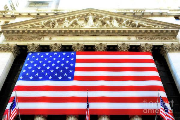 New York Stock Exchange Glow Poster