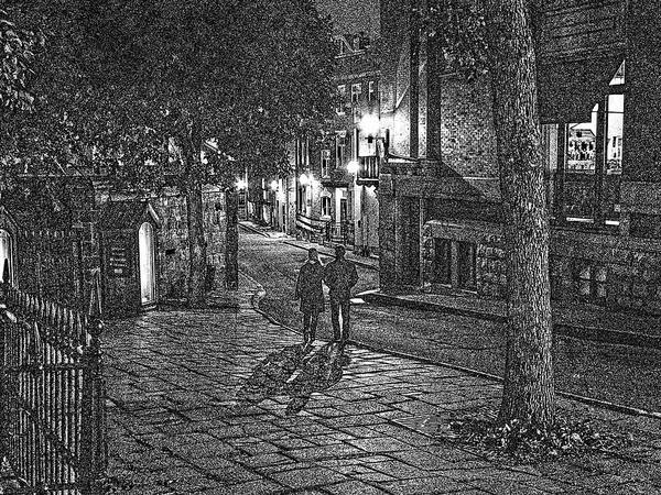 Night Shadows Sketch Poster