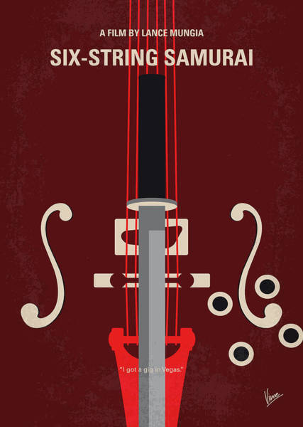 No1020 My Six-string Samurai Minimal Movie Poster Poster