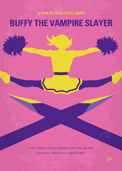 No1058 My Buffy The Vampire Slayer Minimal Movie Poster Poster