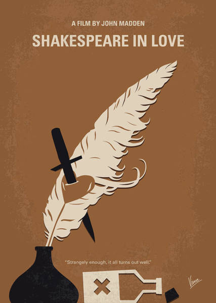 No1071 My Shakespeare In Love Minimal Movie Poster Poster
