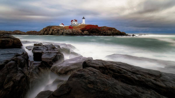 Poster featuring the photograph  Nubble Lighthouse, York Me. by Michael Hubley