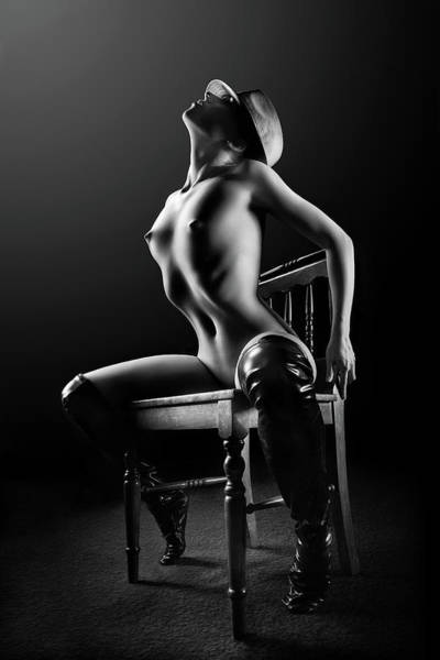 Nude Woman On Chair 2 Poster