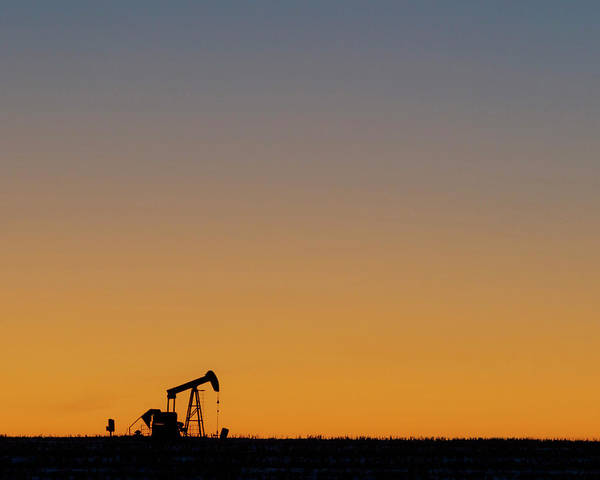 Poster featuring the photograph Oil Pump After Sunset 02 by Rob Graham