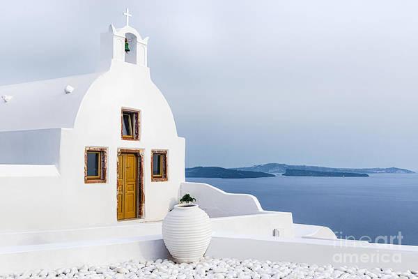 Old Church In Santorini Island, Greece Poster