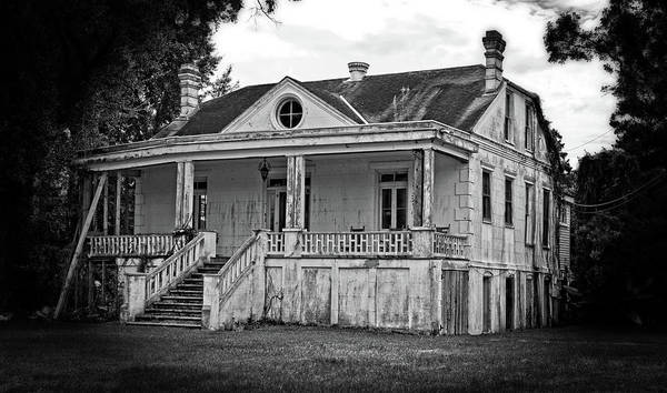 Old House Black And White Poster