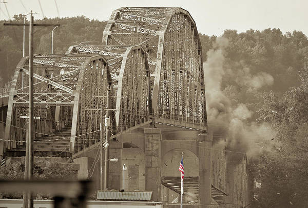 Old Iron Bridge Implosion Poster