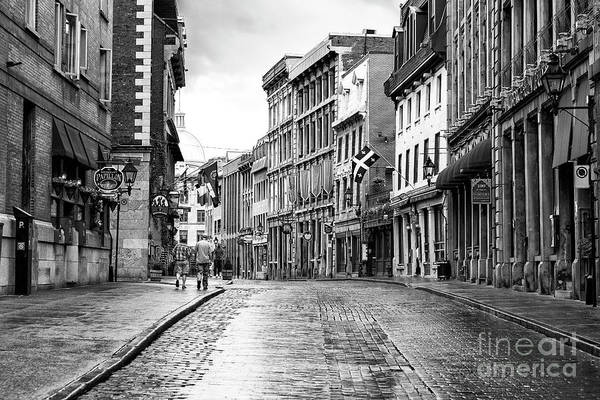 Old Montreal Cobblestone Streets Poster
