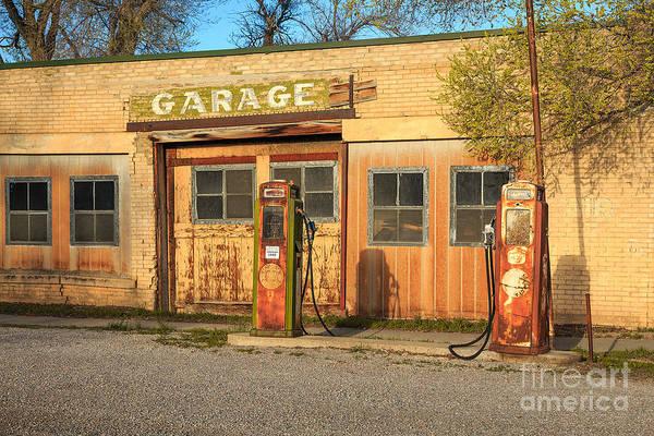 Old Service Station In Rural Utah, Usa Poster