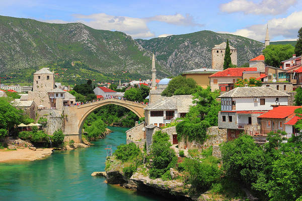 Old Town Of Mostar Bosnia And Herzegovina Poster