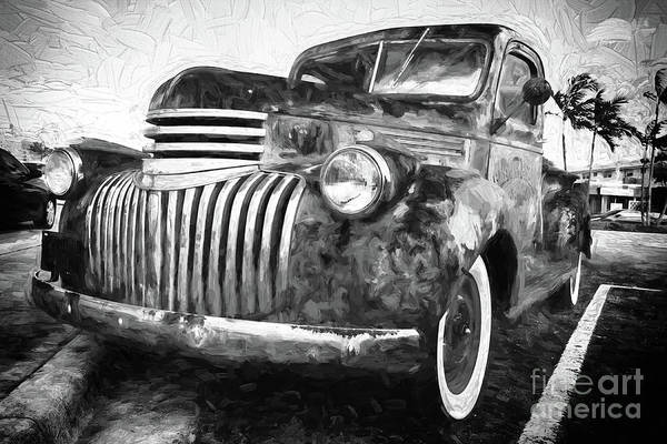 Old Truck  - Painterly Poster