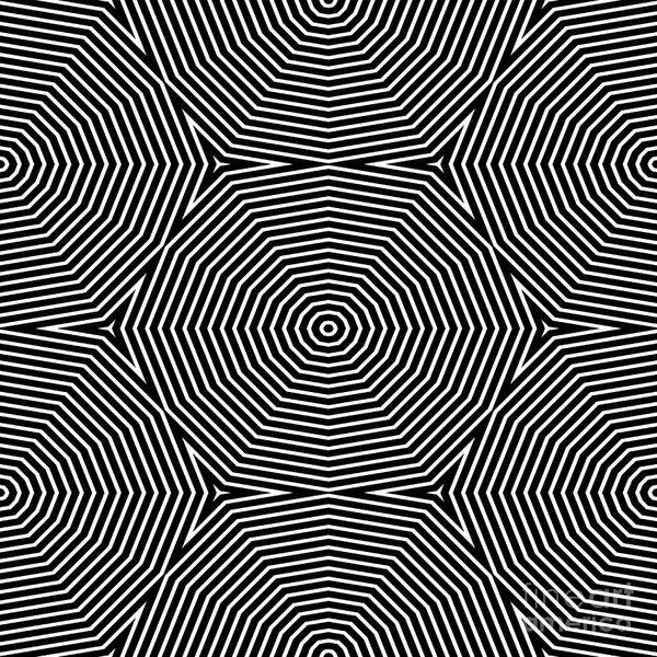 Op Art Only Symmetrical Shapes 04 Poster