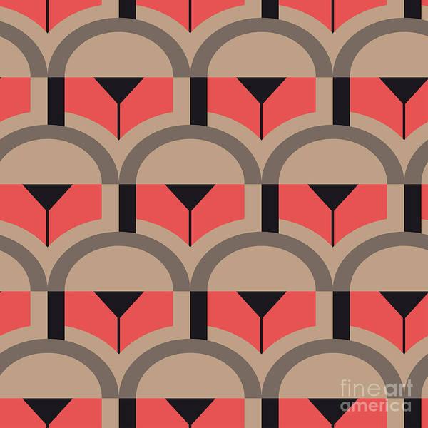 Op Art Vector Seamless Pattern Poster