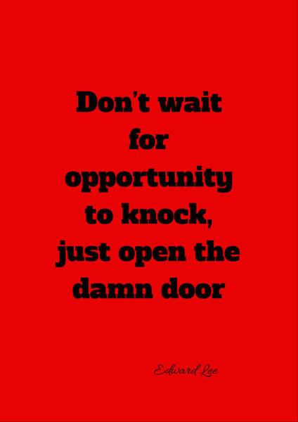 Open The Door      Black On Red Poster