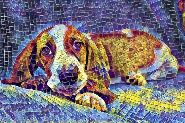 Otis The Potus Basset Hound Dog Art  Poster