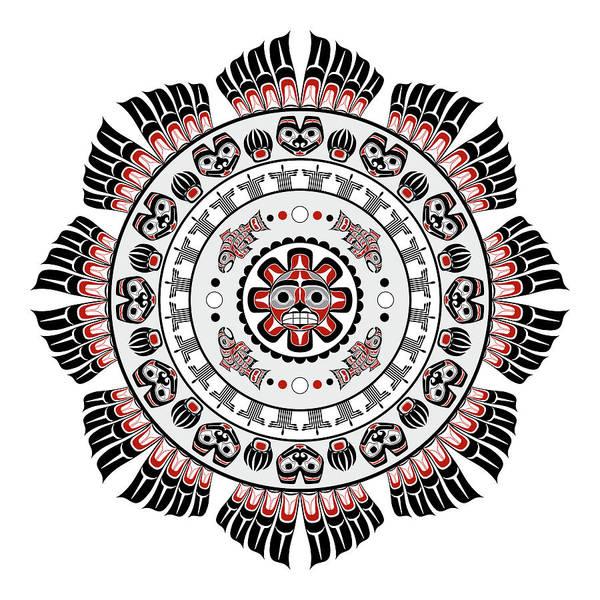 Pacific Northwest Native American Art Mandala Poster