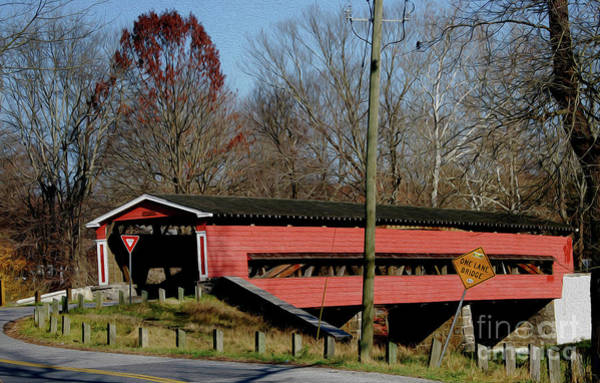Painted Bridge At Chads Ford Pa Poster
