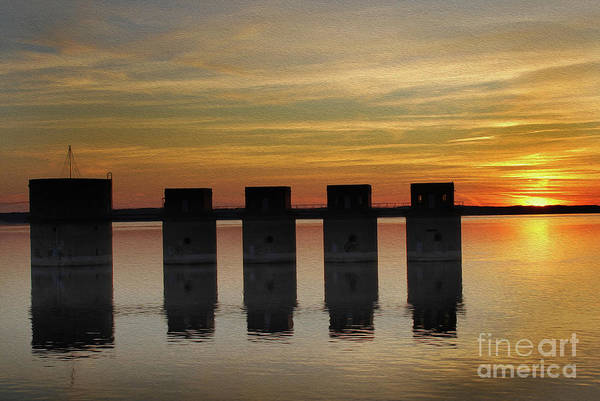 Painted Lake Murray Sunset Poster