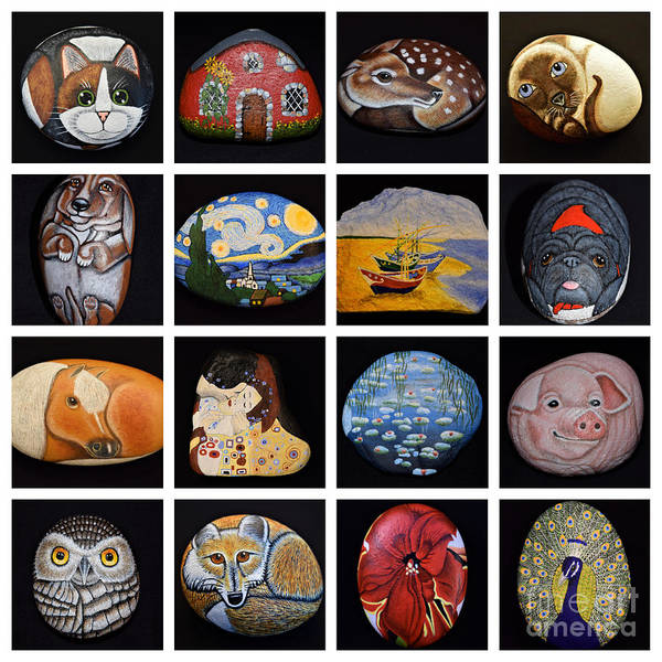Painted Rock Art Poster