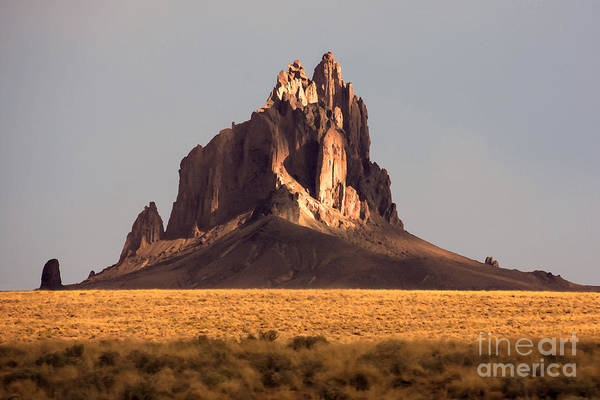 Painting Like Picture Of Shiprock In Poster