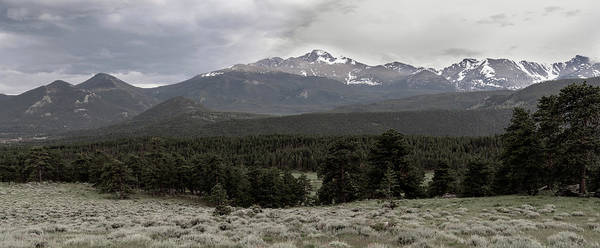 panoramic view of Rocky Mountains Poster