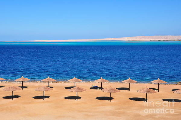 Parasols At Red Sea,hurghada Poster