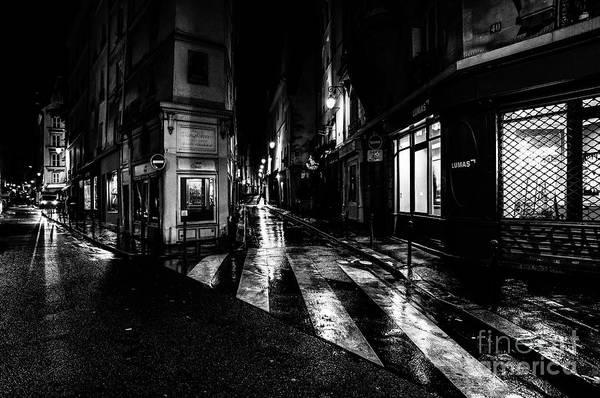 Paris At Night - Rue De Seine Poster