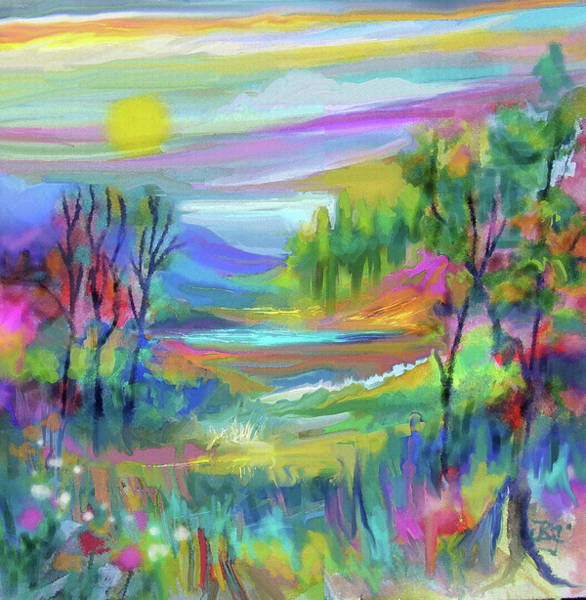 Pastel Landscape Poster
