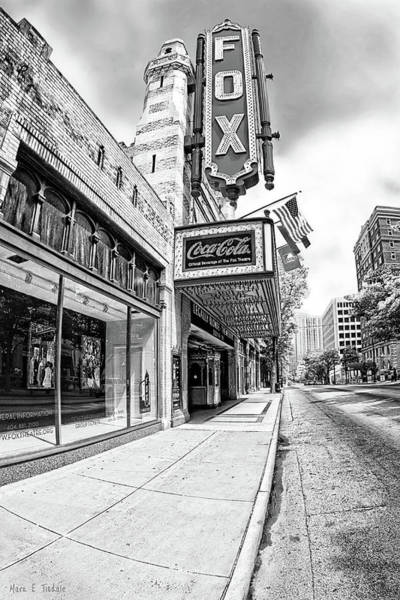 Peachtree Street And The Fox Theatre - Atlanta Poster