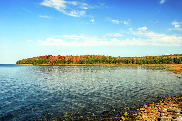 Peninsula Shore In Fall Poster