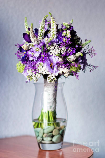 Perfect Bridal Bouquet For Colorful Wedding Day With Natural Flowers. Poster