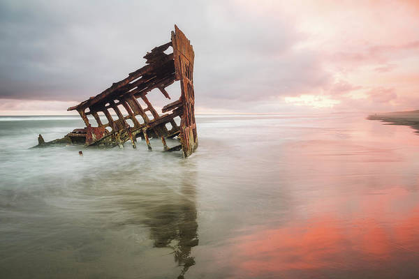 Poster featuring the photograph Peter Iredale Shipwreck by Nicole Young