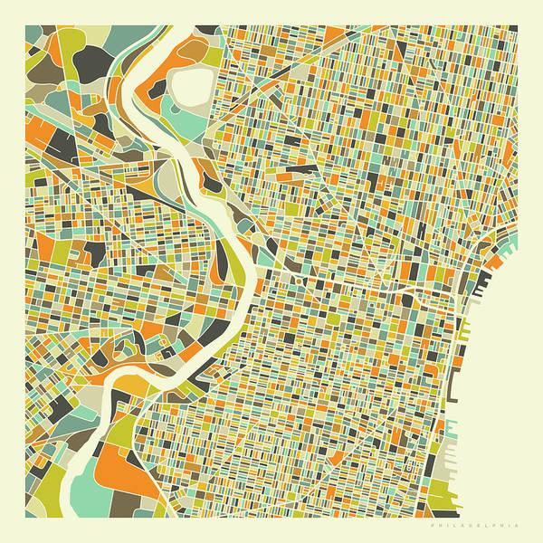 Philadelphia Map 1 Poster