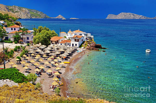 Pictorial Beaches Of Greece - Hydra Poster