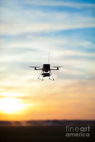 Picture Of A Quadrotor Rc Model Poster