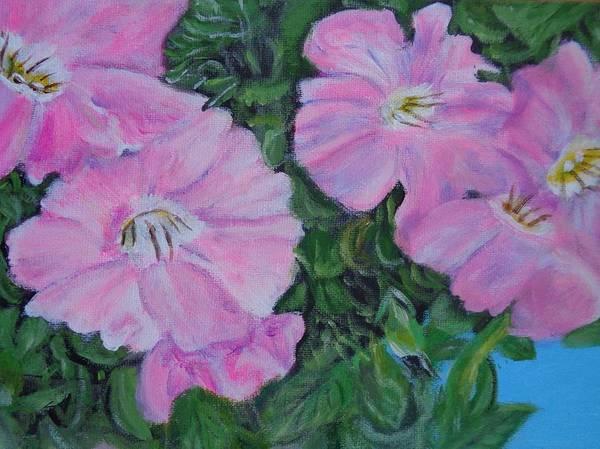 Pink Petunias Poster
