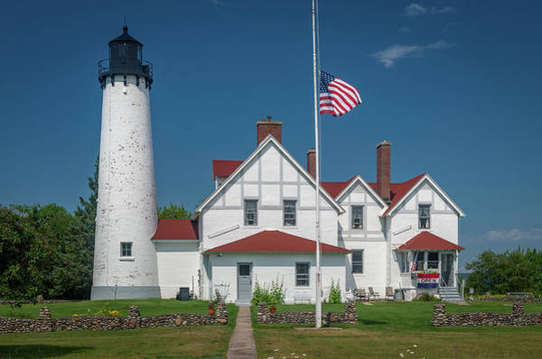 Point Iroquois Lighthouse Poster