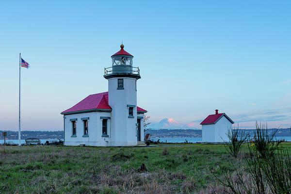 Point Robinson Lighthouse At Maury Island, Wa Poster