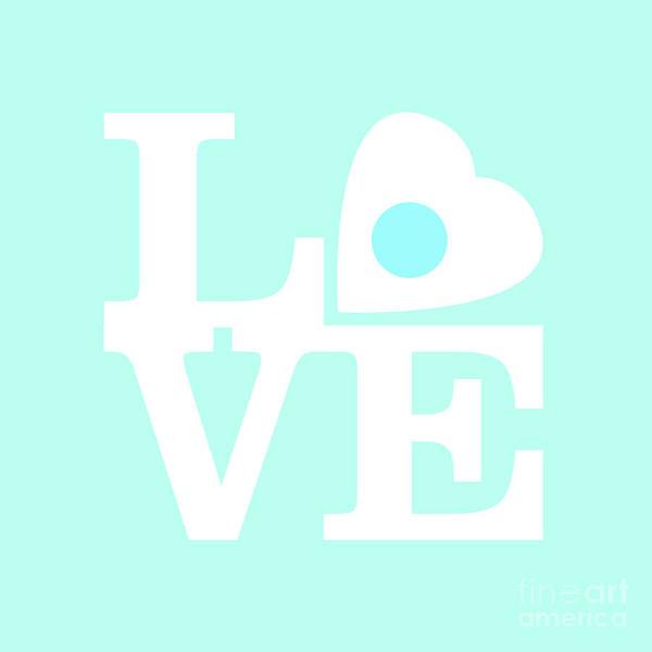 Pop Art Love In Blue Poster