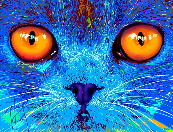 pOpCat Boe - Big Orange Eyes Poster