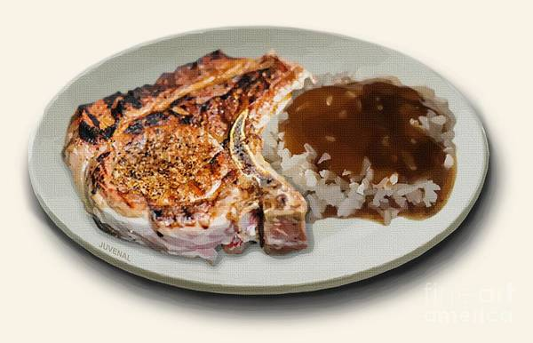 Pork Chop And Rice Poster