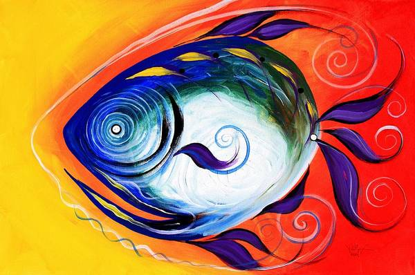 Positive Fish Poster