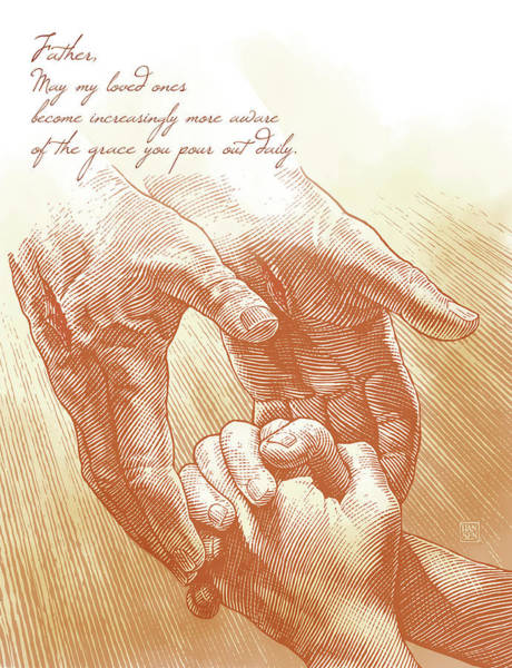 Poster featuring the drawing Prayer by Clint Hansen