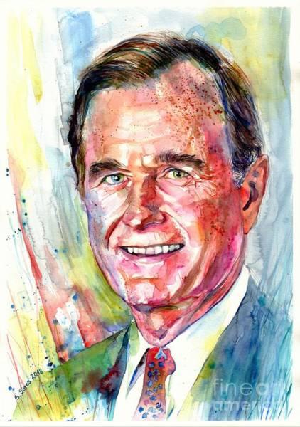 President George H. W. Bush Portrait Poster