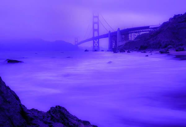 Purple Golden Gate Fog Poster