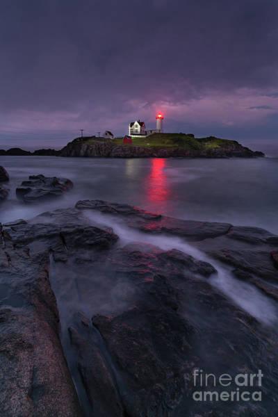Purple Haze At Nubble Lighthouse Poster