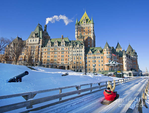 Quebec City In Winter, Traditional Poster