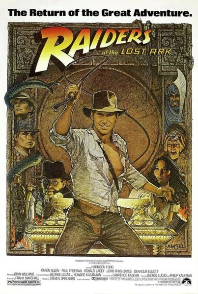 Raiders Of The Lost Ark -1981-. Poster